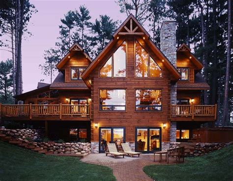 custom built log home tour strongwood log homes