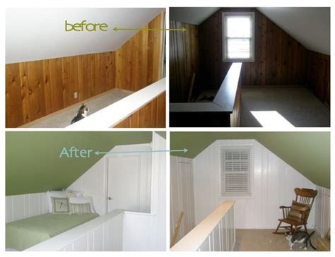 Paneling Before After Before After Pinterest   painting over wood paneling before and after painted