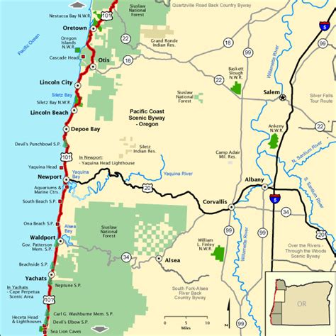 pacific coast scenic byway oregon lower northern