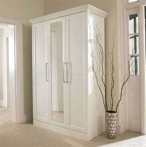 White Closet With Mirror The Gallery For Gt Wardrobe Closet With Mirror