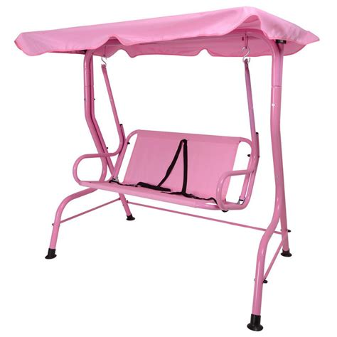pink swing seat kids 2 seat two tone pink garden swing hammock with saftey