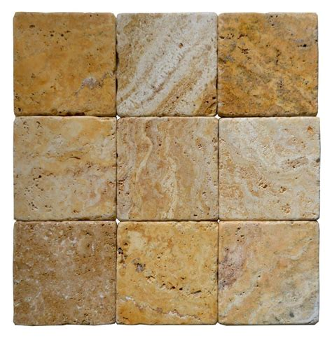 gold tumbled travertine mosaic tiles 4x4 stone tile us