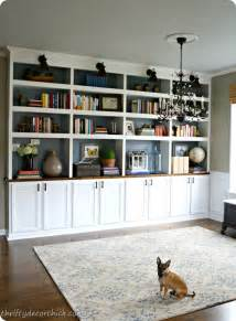 Bookshelves Look Built In Woodwork Do It Yourself Built In Bookcase Plans Pdf Plans