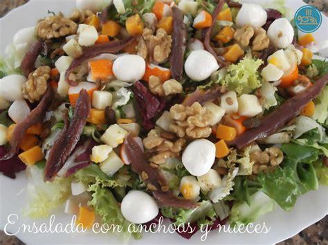 anchoas saladas ensalada con anchoas y nueces mis recetas saladas