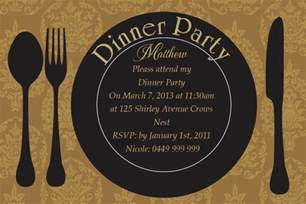 dinner party invitation card design collection for your