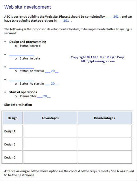 Business Development Strategy Template business plan development