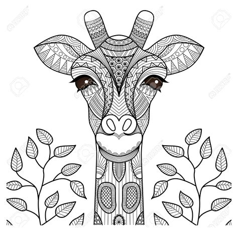 giraffe head coloring pages zentangle giraffe head for coloring page shirt design and