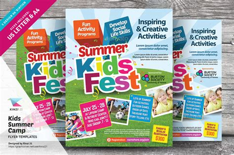 templates brochure summer c kids summer c print bundle by kinzi21 graphicriver