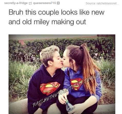 Funny Couples Memes - this couple looks like new and old miley memes com