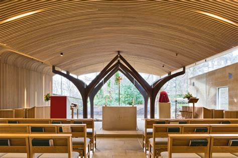 american white oak brings warmth    chapel  st