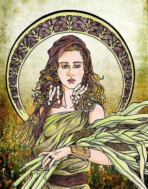 harvest of demeter goddess symbol mrpsmythopedia demeter
