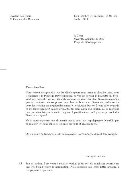 Lettre De Présentation Destinataire Inconnu 201 Crire Des Lettres En Tutoriels Zeste De Savoir