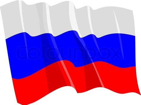 political waving flag of russia stock vector colourbox
