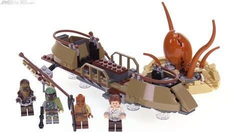 skiff escape lego lego star wars desert skiff escape review 75174 youtube