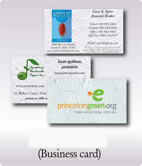 Plantable Business Cards plantable business card embedded w wildflower wholesale china