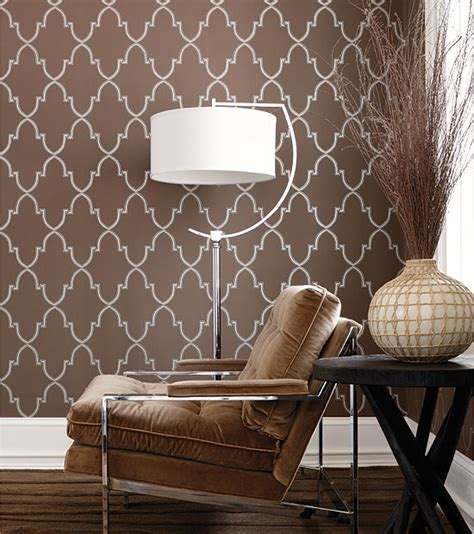 brown home decor paint vs wallpaper home interior design ideas