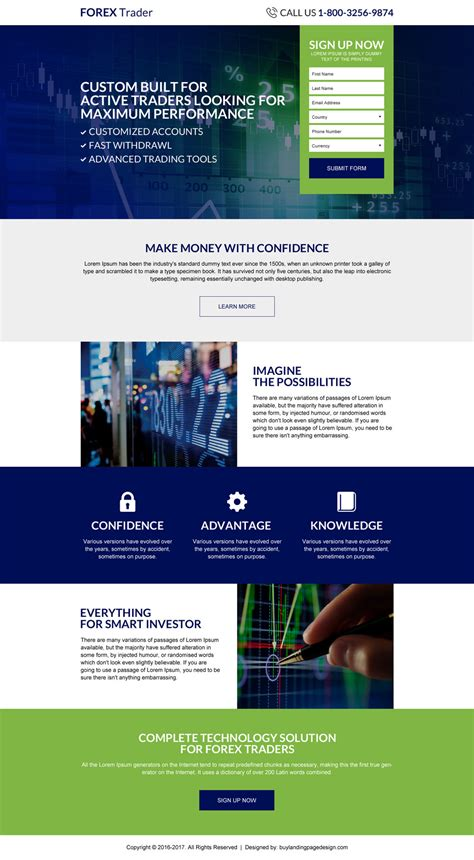forex landing page template forex trader sign up now responsive lp 16 forex trading