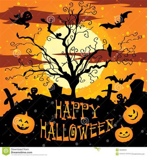 imagenes de halloween que digan feliz halloween postal cartel fondo feliz halloween ilustraci 243 n del