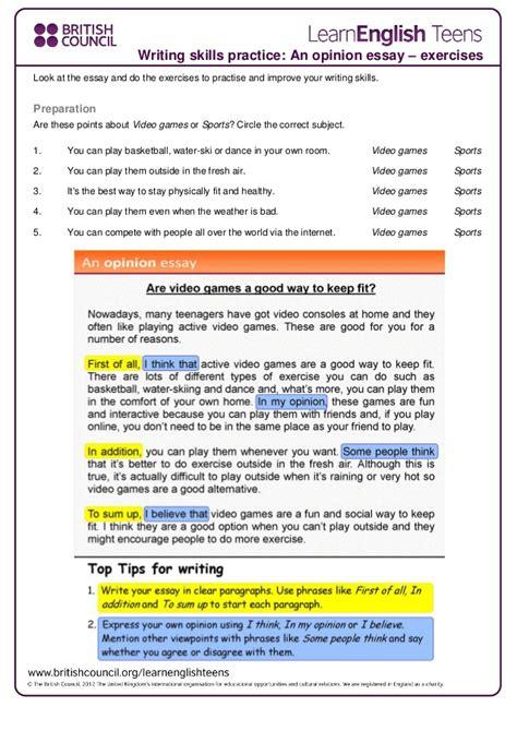 activities to improve essay writing skills 100 original