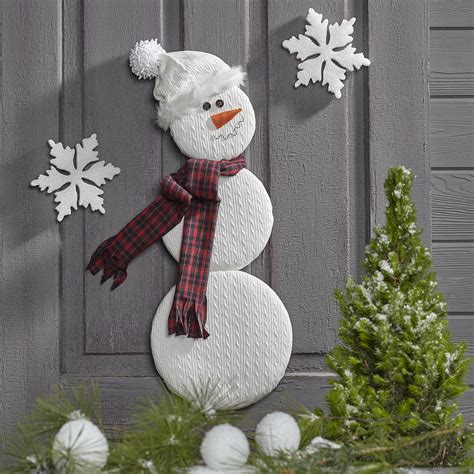 snowman decorations to make snowman door decor favecrafts