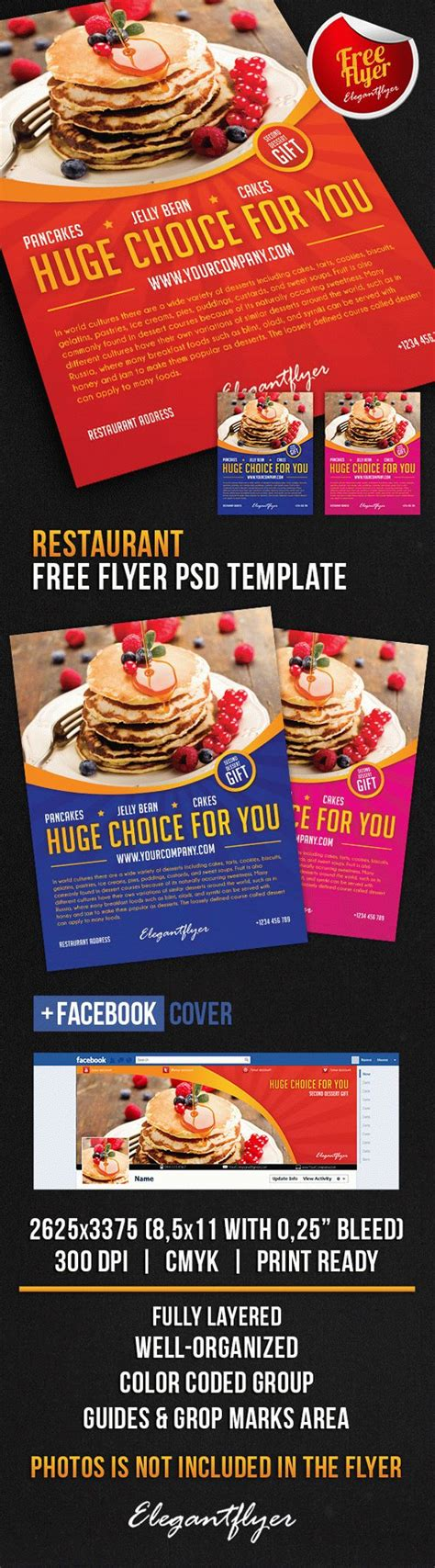 free restaurant flyer templates restaurant free flyer psd template cover