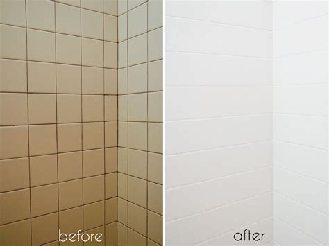 Bathroom Tile Makeover by A Bathroom Tile Makeover With Paint Diy