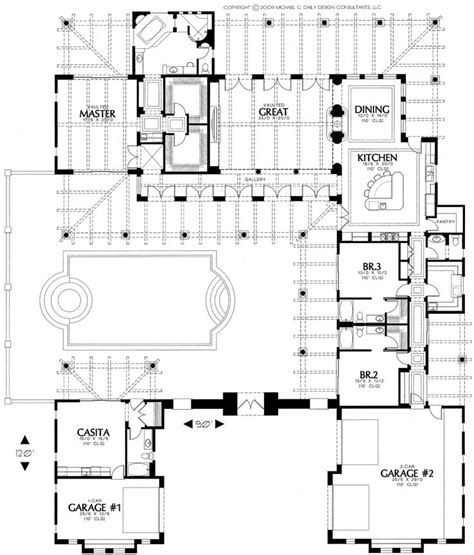 House Plans With Inner Courtyard by 25 Best Ideas About Courtyard House Plans On