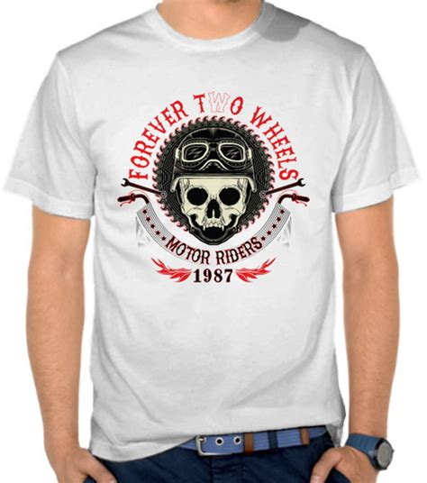 Kaos Biker Adventure jual kaos forever two wheels motor satubaju