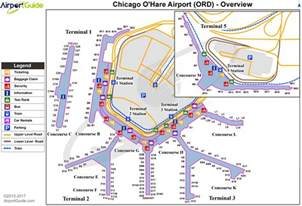 Chicago O Hare Airport Map by Chicago Chicago O Hare International Ord Airport