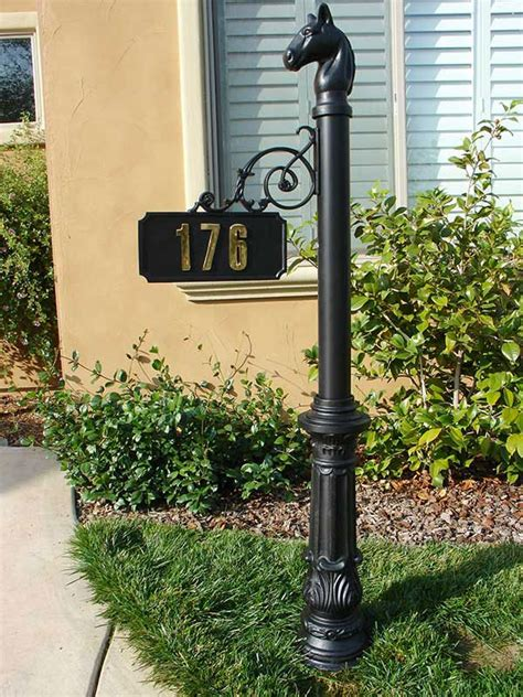 l post address sign personalized hanging address sign with decorative post