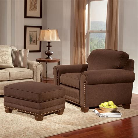 smith brothers chairs and ottoman smith brothers 393 traditional chair and ottoman with