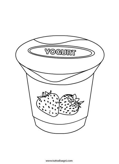 Coloring Page Yogurt by Yogurt Coloring Coloring Pages