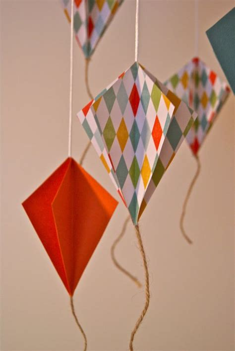 Origami Paper Kites - paper kite for my mr birthdays