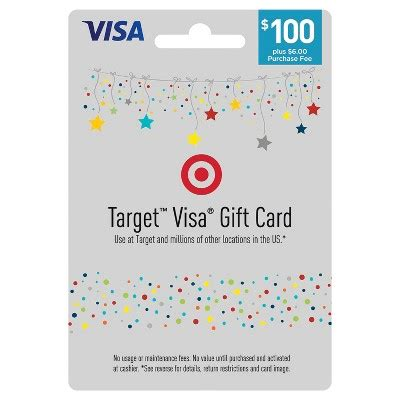 Using A Visa Gift Card - visa gift card 100 6 fee target