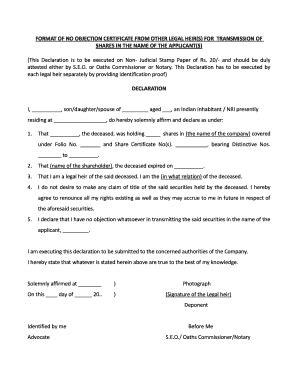 noc letter format judicial fill printable