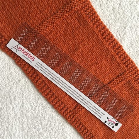 knitting pattern ruler gauge demons