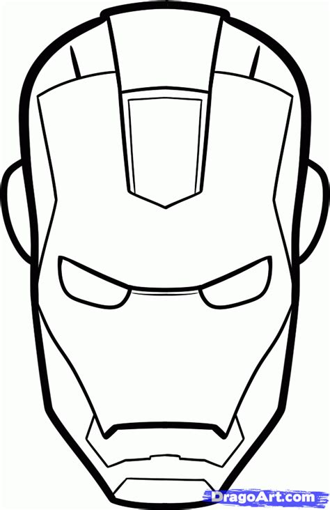 iron man face clipart 79