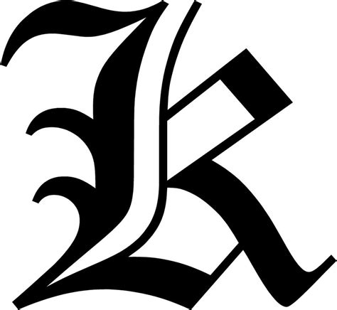 Letter K Stickers