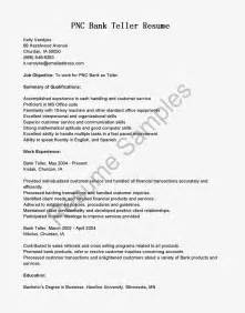 Pnc Bank Teller Cover Letter resume sles pnc bank teller resume sle