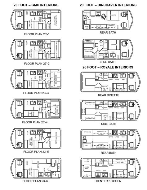 toyota sunrader floor plans starling travel 187 motorhomes and cers