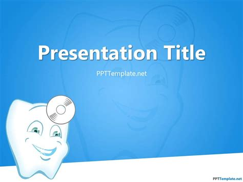 template for powerpoint presentation free dentist ppt template