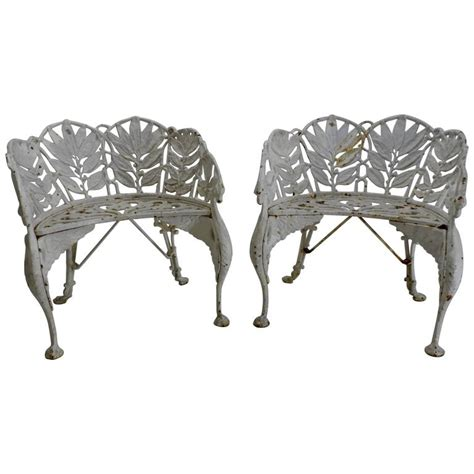 iron chairs for sale pair of white wrought iron side chairs for sale at 1stdibs