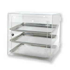 Display Cabinets Plastic Clear Pastry Half Pan Self Serve Countertop