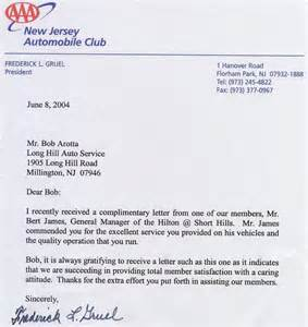 Appreciation Letter Dealers pics photos thank you letter from aaa new jersey automobile club