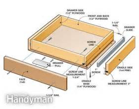 Building Kitchen Cabinet Drawers cabinet drawer plans download top free woodworking pdf plans