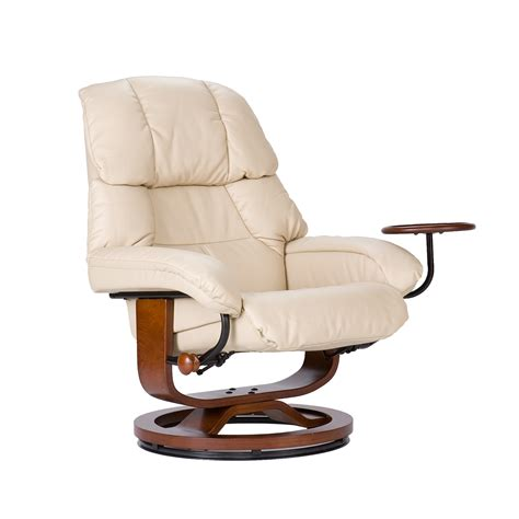 Modern Leather Recliner With Ottoman Southern Enterprises Modern Leather Recliner And Ottoman By Oj Commerce Up7673rc 599 99