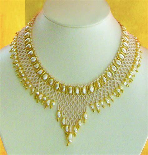 bead necklace tutorial patterns beadsmagic