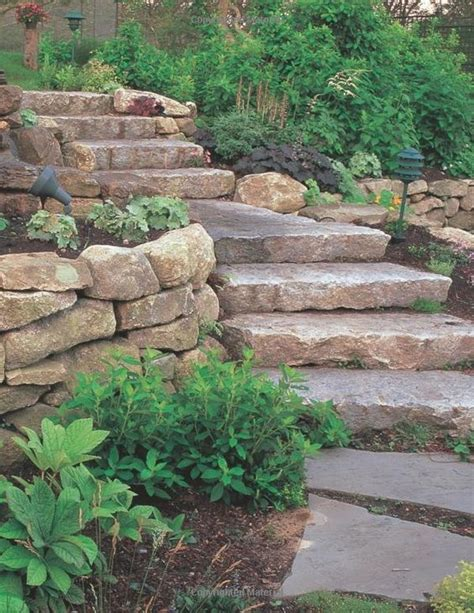 stone walls retaining walls robin aggus natural landscaping st louis natural stone steps boulder