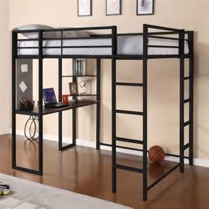 Bunk Bed With Desk For Adults Modern Size Metal Loft Beds For Adults With Desk