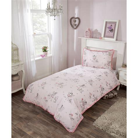 kids fairy single duvet set pink girls bedding bm